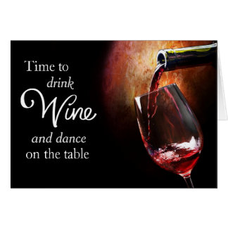 Fun Wine Enthusiast's Birthday Card