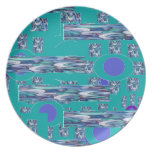 Fun with blue dinner plates