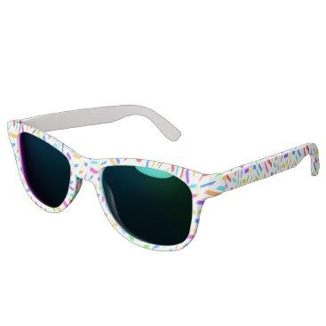 Beach Themed Fun with Confetti Sunglasses