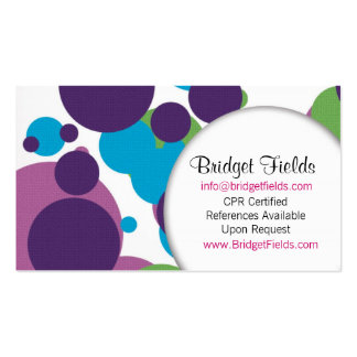 Fun with Polka Double-Sided Standard Business Cards (Pack Of 100)