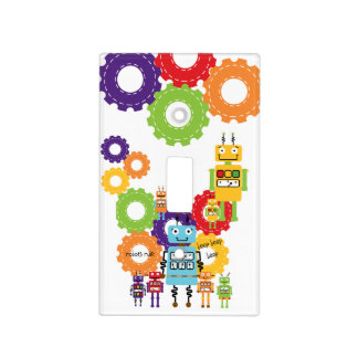 Fun With Robots Light Switch Cover