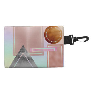 Fun with shapes,metallic,gold,rose gold,silver,ult accessory bag