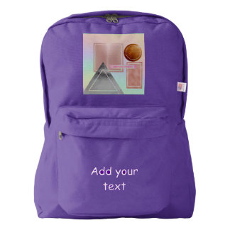 Fun with shapes,metallic,gold,rose gold,silver,ult american apparel™ backpack