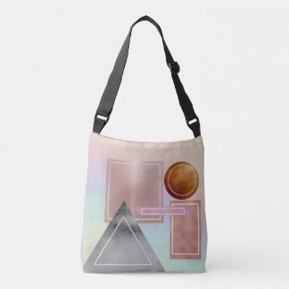 Fun with shapes,metallic,gold,rose gold,silver,ult crossbody bag