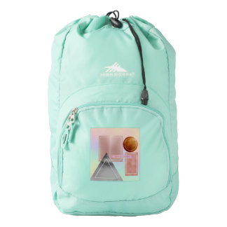Fun with shapes,metallic,gold,rose gold,silver,ult high sierra backpack