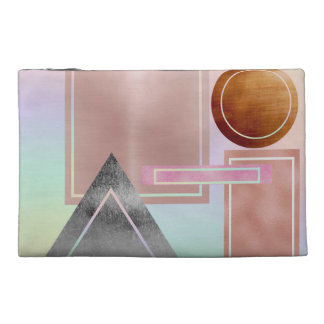 Fun with shapes,metallic,gold,rose gold,silver,ult travel accessory bag