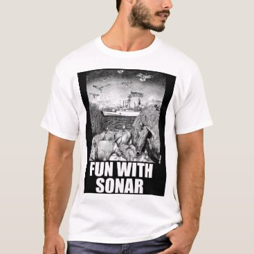 Beach Themed Fun With Sonar T-Shirt