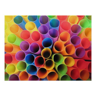 Fun with Straws Poster
