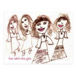 Fun With the Girls postcard
