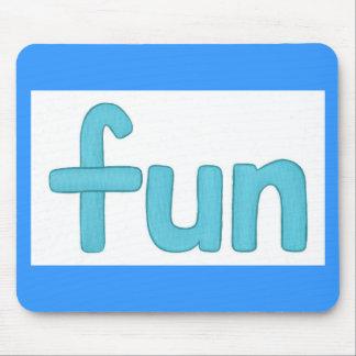 fun word in aqua mousepad