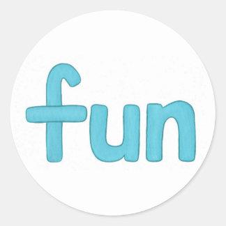 Fun word in aqua, stickers