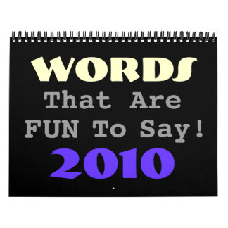 Fun Words Calendar