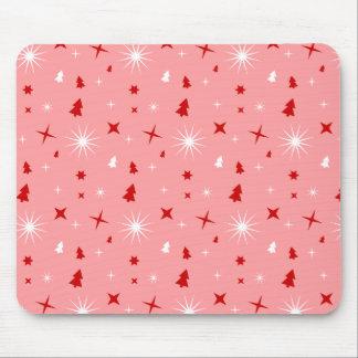 Fun Xmas Confetti Pink Pattern Stars Mouse Pad