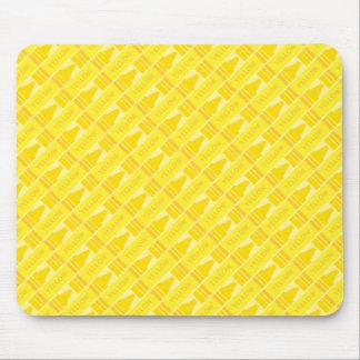 Fun Yellow Crayon Pattern Mouse Pad