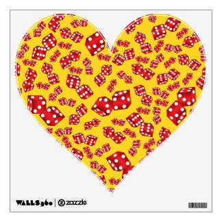 Fun yellow dice pattern room stickers