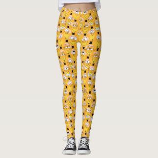 Fun Yellow Emoji Trendy Design Leggings