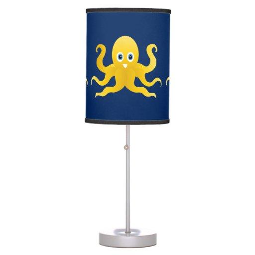 Fun Yellow Octopi Table Lamp Zazzle