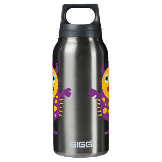 Fun Yellow Purple Monster Creature for Kids Insulated Water Bottle