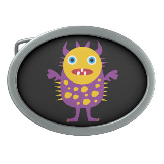 Fun Yellow Purple Monster Creature Gifts for Kids Belt Buckles