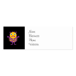 Fun Yellow Purple Monster Creature Gifts for Kids Business Cards