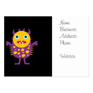 Fun Yellow Purple Monster Creature Gifts for Kids Business Card Template