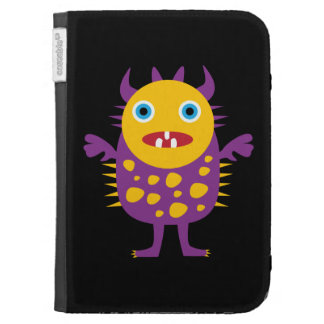 Fun Yellow Purple Monster Creature Gifts for Kids Kindle Keyboard Covers