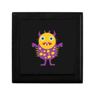Fun Yellow Purple Monster Creature Gifts for Kids Keepsake Box