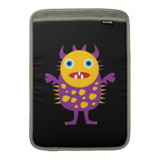 Fun Yellow Purple Monster Creature Gifts for Kids Sleeve For MacBook Air
