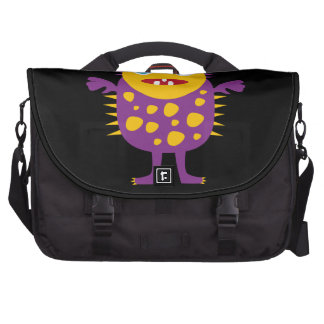 Fun Yellow Purple Monster Creature Gifts for Kids Bag For Laptop