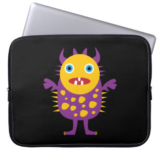 Fun Yellow Purple Monster Creature Gifts for Kids Laptop Computer Sleeve