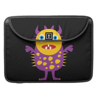 Fun Yellow Purple Monster Creature Gifts for Kids MacBook Pro Sleeve