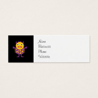 Fun Yellow Purple Monster Creature Gifts for Kids Mini Business Card