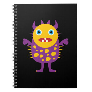 Fun Yellow Purple Monster Creature Gifts for Kids Notebook