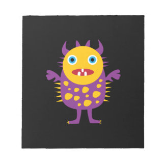 Fun Yellow Purple Monster Creature Gifts for Kids Memo Note Pads