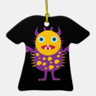 Fun Yellow Purple Monster Creature Gifts for Kids Christmas Tree Ornament
