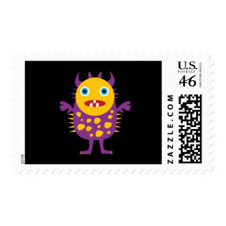 Fun Yellow Purple Monster Creature Gifts for Kids Postage