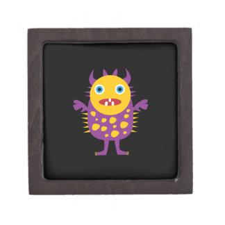Fun Yellow Purple Monster Creature Gifts for Kids Premium Keepsake Boxes
