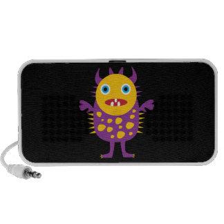 Fun Yellow Purple Monster Creature Gifts for Kids iPod Speaker