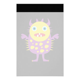 Fun Yellow Purple Monster Creature Gifts for Kids Custom Stationery