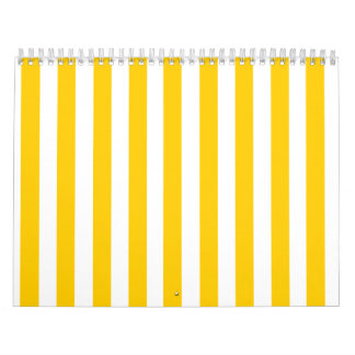 Fun Yellow Stripes Pattern Calendar