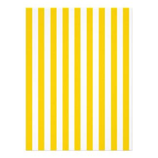 Fun Yellow Stripes Pattern Custom Announcements