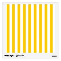 Fun Yellow Stripes Pattern Wall Sticker