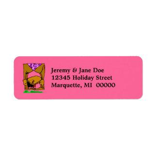 Fun Yoga Limber Flexible Return address Labels
