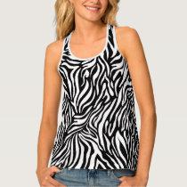 Fun Zebra Animal Pattern Tank Top