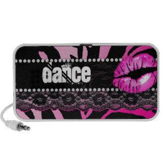 Fun Zebra Doodle Speaker Cover Lips n Lace Dance