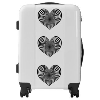 Zebra Hearts Suitcase