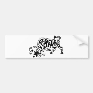 Fun Zodiac Taurus Bull Astrology Sign Art Bumper Sticker