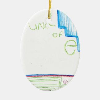 Func of E Ceramic Ornament