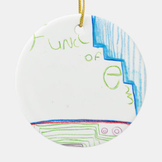 Func of E Ceramic Ornament