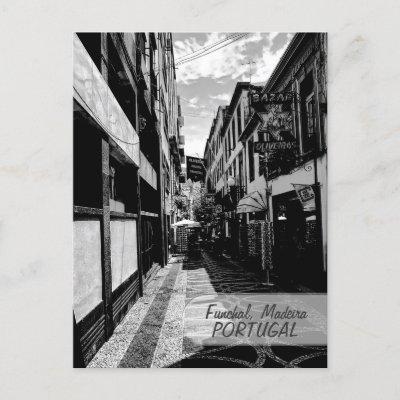 Funchal Alleys : Madeira (Portugal) Postcard postcard